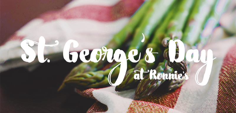 Happy St Georges-Day at Ronnies Restaurant